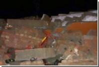 Опубликовано видео обрушения стены на индийской свадьбе
