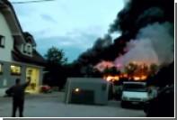 В Словении загорелся завод по переработке токсичных отходов