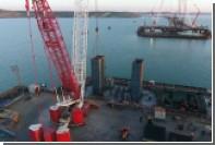 Строители Крымского моста начали сооружение фарватерных опор