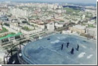 Футболисты «Урала» потренировались на крыше небоскреба