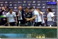 Футболисты «Реала» облили Зидана шампанским во время пресс-конференции