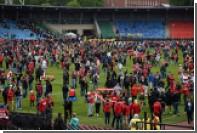 Из-за поломки ворот на поле тульского «Арсенала» вылилось шесть тонн тосола