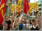 Джорджа Буша на саммите США-ЕС в Вене встречали толпы протестующих студентов