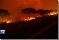 Из-за лесного пожара в Испании эвакуированы 1800 человек