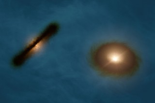 Ученые нашли аномалию в ориентации протопланетных дисков у двойной звезды