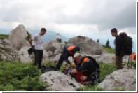 Спасение туриста с высоты 1,7 тысячи метров в горах Сочи сняли на видео