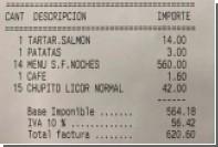 Полиция догнала не заплативших 600 евро за ужин посетителей испанского ресторана