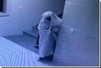 Китайский вор нарядился обмотался шторой ради обмана камеры видеонаблюдения