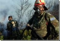 На греческом Лесбосе загорелся лагерьбеженцев