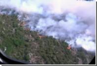 Сильный природный пожар на Корсике приблизился к городу Бастия