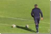 Тренер итальянского «Торино» отправил три мяча из трех в девятку на тренировке