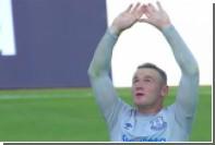 Руни забил мяч с 30 метров в первом матче после возвращения в «Эвертон»