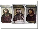 Прихожанка церкви в Испании отреставрировала фреску до неузнаваемости