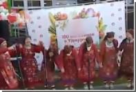 Появилось видео падения колонки на «Бурановских бабушек»