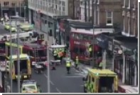 Двухэтажный автобус в Лондоне протаранил витрину студии дизайна