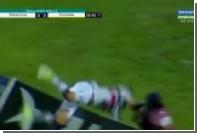 Бразильский футболист неудачно отпраздновал забитый мяч