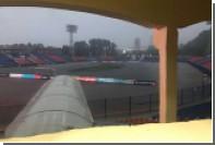 На стадионе «СКА-Хабаровска» перед игрой с «Анжи» произошел потоп