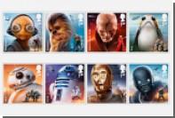 Британская почта выпустит марки о «Звездных войнах» со скрытыми рисунками