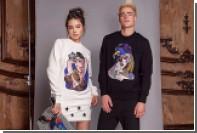 Катя Добрякова украсила одежду портретом Ким Кардашьян в манере Пикассо