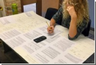 Американская студентка принесла на экзамен гигантскую шпаргалку