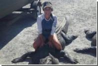 Многодетная американка убила четырехметрового аллигатора ради мяса