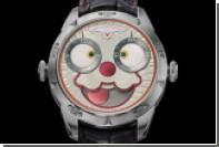 Россиянин сделал часы со злым клоуном в помощь детям