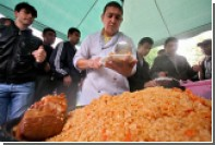 В Узбекистане приготовили самый большой плов в мире