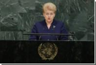 Грибаускайте обвинила Россию в отрабатывании нападения на западные страны