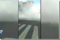 Опубликованы кадры обрушения зданий  во время землетрясения в Мексике