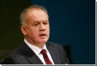 Словацкий парламент заинтересовался финансированием президентской кампании Киски