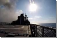 Появились кадры ракетного удара с «Адмирала Эссена» по боевикам в Сирии