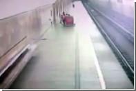 Пылесос «бросился» на рельсы в московском метро