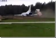 Появилось видео аварии выкатившегося с полосы в лес Ту-22М3