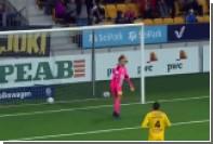 Футболист принял на грудь и забил мяч в чемпионате Финляндии