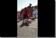 Болельщик сбил с велосипеда российского гонщика во время «Вуэльты»