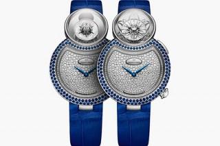 Jaquet Droz украсил часы раскрывающимся лотосом и бриллиантовым бриолетом