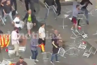 В Барселоне подрались сторонники и противники независимости Каталонии
