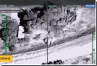 Появилось видео российского удара по командному пункту ИГ с тремя аш-Шишани