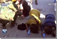 В Ракке женщина сбросила абаю и встала на колени перед освободителями