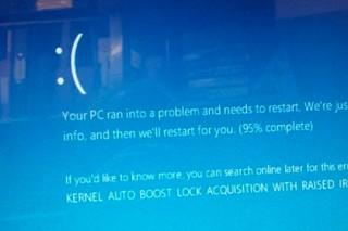 Обновление Windows10 привело к бесконечному экрану смерти