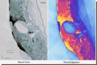 НАСА показало снимок гигантского отколовшегося айсберга