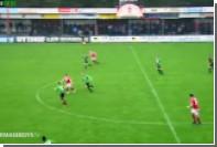 Голландский футболист обыграл вратаря и промахнулся по пустым воротам