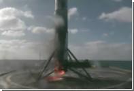Первая ступень Falcon9 загорелась после приземления