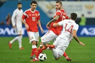 Сборная России отыграла два мяча и вырвала ничью в матче с Испанией
