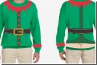 На рождественском свитере изобразили голый зад