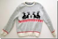 Школа проиллюстрировала детскую акцию свитером со сношающимися оленями