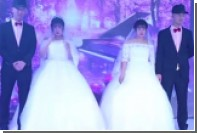 Два одинаковых китайца женились на двух одинаковых китаянках
