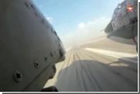 Ракетный удар Су-25 сняли из кабины
