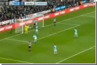 Защитник «Манчестер Сити» залетел в ворота вместо мяча