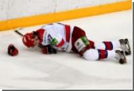 Российский хоккеист прокусил язык во время матча
